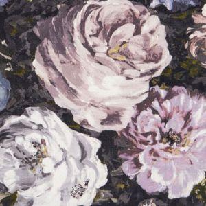 F1088/01 FLORETTA Blush Charcoal Clarke & Clarke Fabric