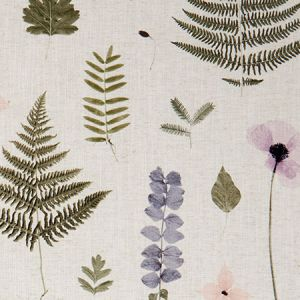 F1089/01 HERBARIUM Blush Natural Clarke & Clarke Fabric