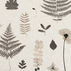 F1089/02 HERBARIUM Charcoal Natural Clarke & Clarke Fabric