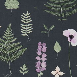 F1089/03 HERBARIUM Heather Ebony Clarke & Clarke Fabric