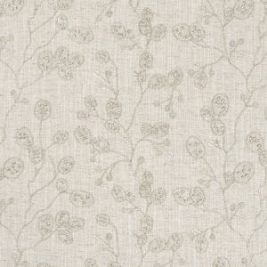 F1090/04 HONESTY Natural Silver Clarke & Clarke Fabric