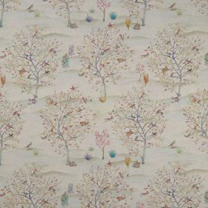 F1147/01 COPPICE Autumn Cream Clarke & Clarke Fabric