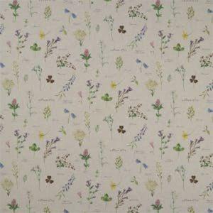 F1167/01 NERIUM Linen Clarke & Clarke Fabric