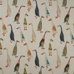 F1171/01 RIVERSIDE Linen Clarke & Clarke Fabric