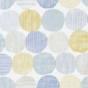 F1235/01 STEPPING STONES Chambray Honey Clarke & Clarke Fabric