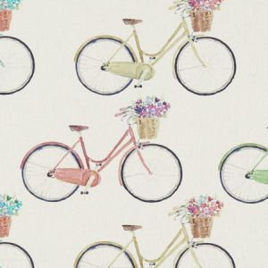 F1263/01 CYCLES Cream Clarke & Clarke Fabric