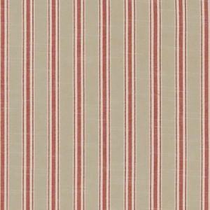 F1311/08 THORNWICK Red Clarke & Clarke Fabric