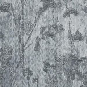 F1338/01 SILHOUETTE Charcoal Clarke & Clarke Fabric