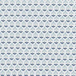 F1373/02 FLEUR Denim Clarke & Clarke Fabric