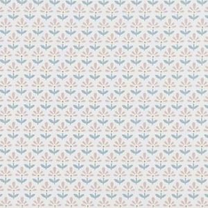 F1373/01 FLEUR Blush Mineral Clarke & Clarke Fabric