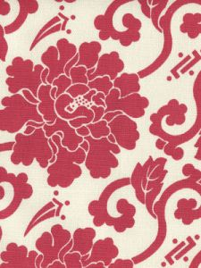 8230-08 FLORALS Burgundy on Tint Quadrille Fabric