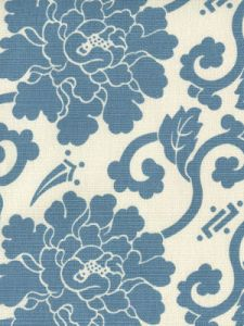 8230-05 FLORALS French Blue on Tint Quadrille Fabric