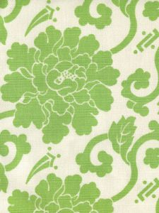8230-06 FLORALS Jungle Green on Tint Quadrille Fabric