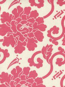 8230-04 FLORALS Magenta on Tint Quadrille Fabric