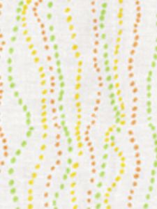 6370-01 GINZA Shrimp Jungle Inca Quadrille Fabric