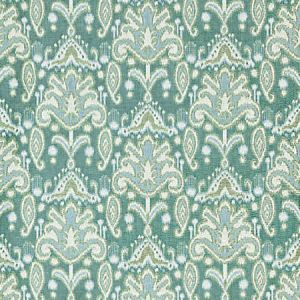 GW 0003 27210 KANDIRA IKAT Turquoise Scalamandre Fabric