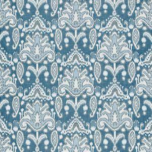 GW 0004 27210 KANDIRA IKAT Marine Scalamandre Fabric