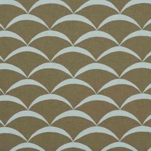 GWF-2618-165 CRESCENT Sand Aqua Groundworks Fabric