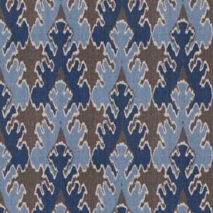 GWF-2811-511 BENGAL BAZAAR Grey Indigo Groundworks Fabric