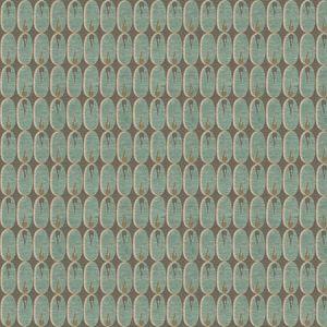 GWF-2924-13 OVAL FLAME Aqua Groundworks Fabric