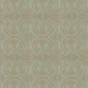 GWF-2926-13 LILY BRANCH Aqua Groundworks Fabric
