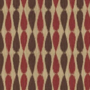 GWF-2927-910 IKAT DROPS Red Groundworks Fabric