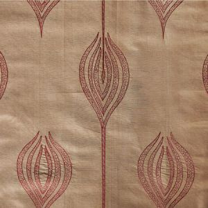 GWF-2928-22 TULIP EMBROIDERY Rust Groundworks Fabric