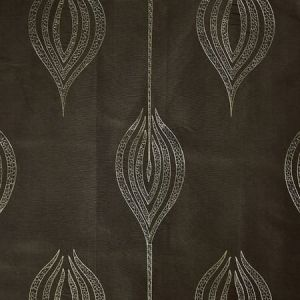 GWF-2928-30 TULIP EMBROIDERY Olive Groundworks Fabric