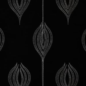 GWF-2928-816 TULIP EMBROIDERY Black Groundworks Fabric