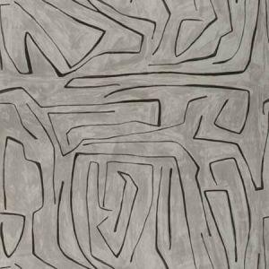 GWF-3530-118 GRAFFITO Graphite Groundworks Fabric
