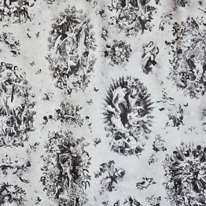 H0 00043445 ANGELOTS Noir Scalamandre Fabric