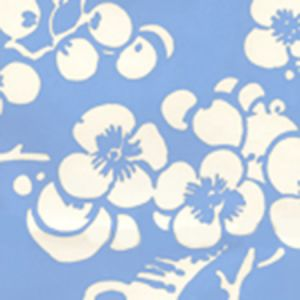 3015-30AWP HAWTHORNE REVERSE French Blue On Almost White Quadrille Wallpaper