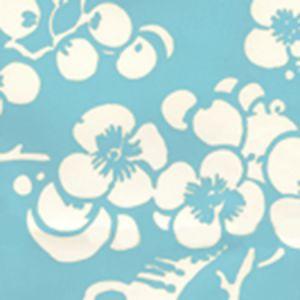 3015-07AWP HAWTHORNE REVERSE New Blue On Almost White Quadrille Wallpaper