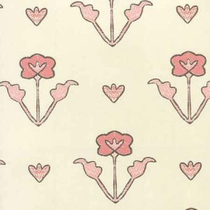 HC1995W-02OWP CLEMENTINE ALL OVER Peach Pink Brown On Off White Quadrille Wallpaper