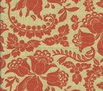 HC1300T-10 ARIEL Tomato on Tan Quadrille Fabric