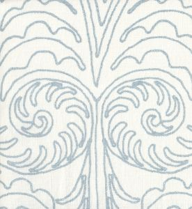 HC1236W GYPSY DANCE Custom Blue on Off White Quadrille Fabric