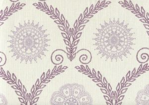 HC1310-02 JEANNE ALL OVER Purple Lilac  Quadrille Fabric