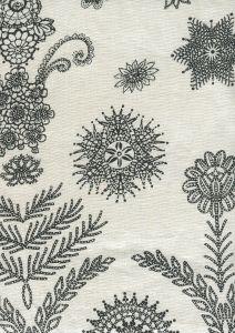 HC1308P JEANNE PANEL Black  Quadrille Fabric