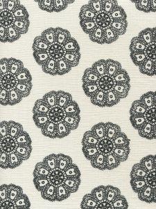 HC1320-08 JEANNE PETITE FLEUR Black  Quadrille Fabric