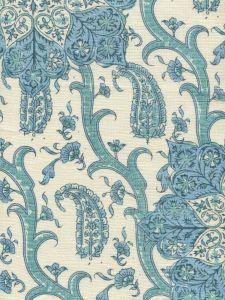 HC1970C-02 KASHMIR EXOTIQUE Blues  Quadrille Fabric
