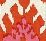 302830C-03 KAZAK Orange Pale Magenta Quadrille Fabric