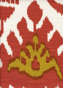 302832F KAZAK Terracotta Mustard on Tint Quadrille Fabric