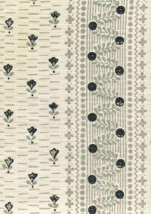 306296F LINKS II Grays Black on Tinted Linen Cotton Quadrille Fabric