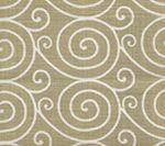 HC1475-07M MEDITATION REVERSE  Gold Metallic on Oyster Quadrille Fabric