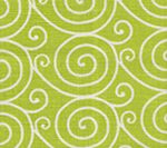 HC1475-02 MEDITATION REVERSE  Lime on Oyster Quadrille Fabric