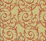 HC1310T-10 MERLOT Tomato on Tan Quadrille Fabric
