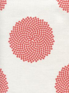 HC1350-06 MYSTERY Coral on Ivory Quadrille Fabric