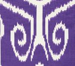 303033TL NOMAD Purple on Tinted Linen   Quadrille Fabric