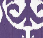 303033WLC NOMAD Purple on White Linen Cotton Quadrille Fabric
