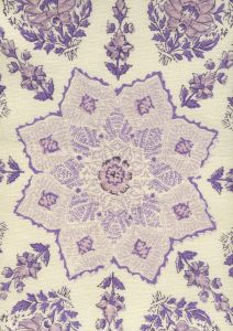 HC1490C-10 PERSEPOLIS Lilac Purple on Cream Quadrille Fabric